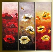 Modern handmade framed oil on canvas flower oil painting for home decor