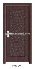 Eco- ambiente libre de pintura interior de pvc mdf puerta( pvc- 09)