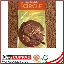 high quality made in china logo oem hanging paper air freshener