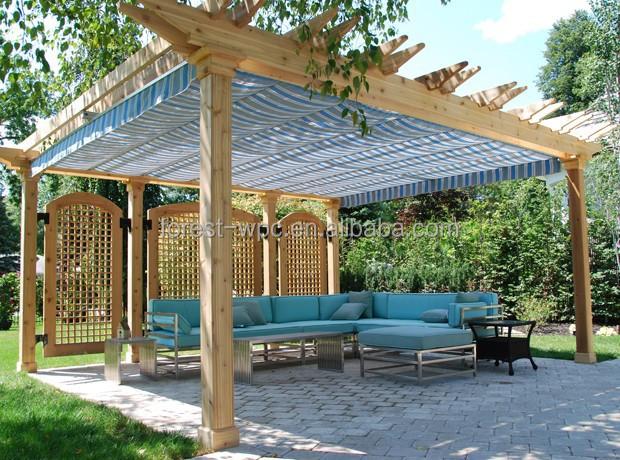 Tuin paviljoen prieel plat dak tuinhuisje luxe tuinhuisje bogen pergola 39 s pergola 39 s en brug - Dak van pergola ...