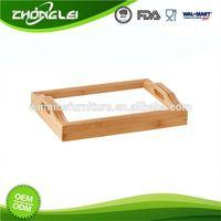 Custom Design Highest Level FSC Certificated Bamboo Lap Tray