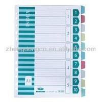 color paper A4 divider/paper index