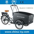2015 elétrico de três rodas triciclo de carga frente/frente de carga de carga da bicicleta