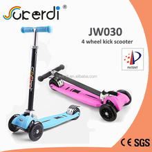 ISCOOTER four wheel foldable handbar adjustable height kids china scooter