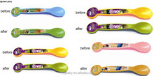 Factory Wholesale Plastic Color Changing Spoon
