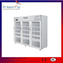 Stainless Steel Commercial Supermarket Display Refrigerator for Beverage and Drink