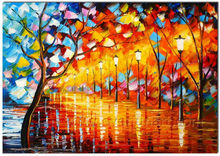 Decorative light up led canvas painting