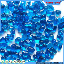 legant shape swimming pool use glass seed bead without hole,mini blue color crystal glass beads for aquarium