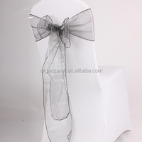2015 Wholesale Disposable Organza Universal Self Tie Chair Covers