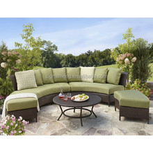 Thornquist 5 piece wicker patio sectional seating furniture set home and garden new products 2015