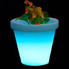 led illuminated flower pot garden furniture