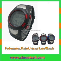 sport watch pedometer, calories, heart rate monitor watch