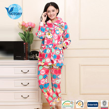 100% Polyester Flannel Sexy Winter Pajamas