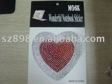 Self Adhesive Clear Diamante Rhinestone Bubble Heart Stick on Gems