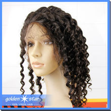 Top quality 100% virgin human hair full lace wig, afro kinky human hair wig for black women