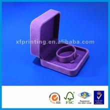 Custom handmade luxury packing boxes cardboard color velvet jewellery gift box