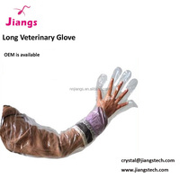Disposable long glove for veterinary obstetric