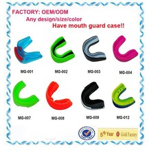 (FACTORY: OEM/ODM) custom silicone mouth guard with mouth guard case