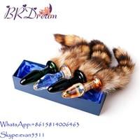 Bulk glass dildos fox anal plug tail expand anal plugs sex toys for female