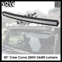 High Lumen 288W Curved off Road LED Work Light Bar