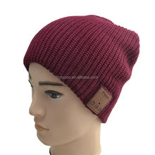 Gained patent product with Cheap price knitted caps with bluetooth headphone/bluetooth winter knitted wool hat