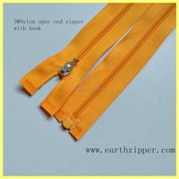 factory direct sell quality open end plastic pin box garment nylon zipper