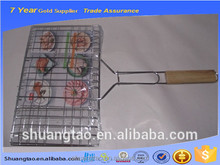 single fish grilling grill made of stainless steel wire mesh