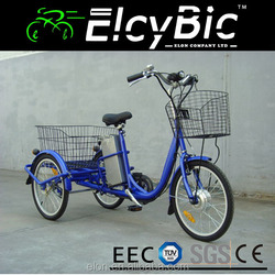 350W new 120kgs loading 48v lead acid battery electric trikes on sale(E-TDR05 blue)