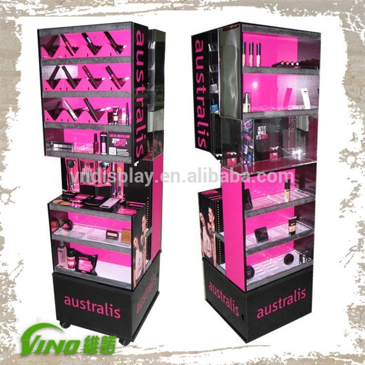 Makeup Stand Cosmetics Floor Display Stand 318703231 on led bottle shelf