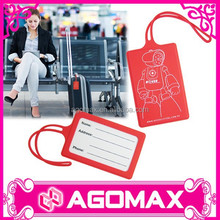 Non-toxic novelty gift photo printed silicone hotel luggage tag