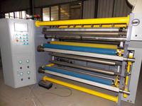 Slip Shaft controlled Plastic Film PE Roll Cutting Machine, PVC Slitter, Laminated Film Slitting Machine