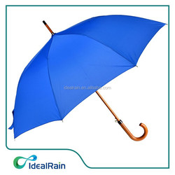Blue wooden stick the cost of subway golf umbrella