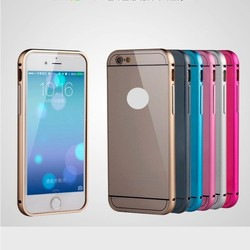 Ultra Thin Luxury Aluminum Metal Frame bumper Cases For Apple iPhone 6 Cell Phone Hard Back Protective Cover For iPhone 6 Plus