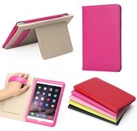 3 folds Magnetic Tablet Cover real leather case for mini ipad 4