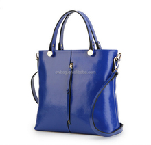 royal blue leather bags for women made in china bag factory