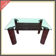 acrylic metal glass top marble base stainless steel high gloss white modern dining table
