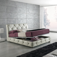 2015 italy design leather bed