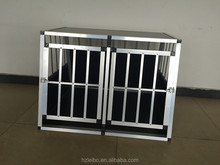 hot sell alu double-door ellipse tube dog cage for 7years