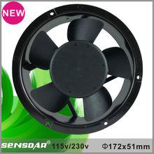 230V motor cylindrical ventilating fan 172mm industrial fan big size