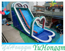 Cheap and High Quality PVC Tarpaulin Inflatable Water Slide with Pool for Kids Play/ Outdoor Inflatable Water Slip for Party