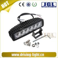 Truck 4x4 offroad led work lgiht bar, 18w automotive led lightings lamp