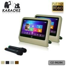 9 '' HD de toque capacitivo monitor de encosto de cabeça Android entretenimento wi fi multimídia exibição de volta assento de carro TFT-LCD tela HDMI