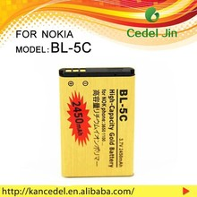 A / AA / AAA Best quality gold battery for NOKIA bl-5c