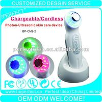 Home use photon supersonic beauty device