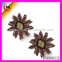 ANIMALS AND WOMEN SEX PHOTO,ANTIQUE DESIGN&FLOWER SHAPE EARRING,FASHION JEWELRY HOT IN MOSCOW EARRING E000612