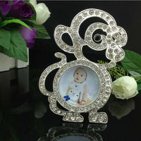 Lovely Kids Baby Photo Frame, Decorative Cartoon Picture Frame Monkey Shape Funny Photo Frame With Diamond home decor