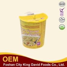 Hot vente! Indonésie organique nouilles instantanées nouilles instantanées bio 65 g tasse de nouilles