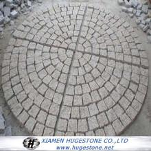 G682 cubestone 6 sides natural split,natural surface cobble stone,G682 yellow paving stone