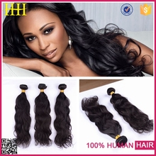 2015 hot new products top quality free tangle milky way pure human hair
