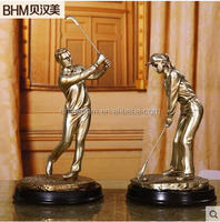 bronze color male and female resin adult figure for desk deco
